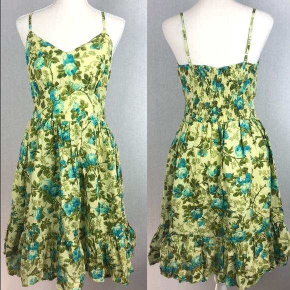 Jane Ashley Dresses & Skirts - Jane Ashley Green & Blue Floral Dress